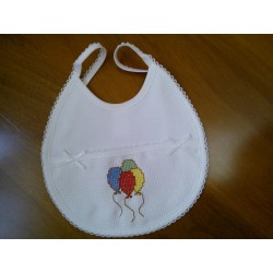 Babete Branca Balões BBBRB